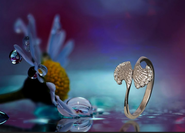 Dew Drops Platinum Ring
